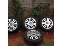 Ford Focus alloy wheels and nearly new tyres