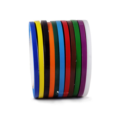 Vinyl Pinstriping Tape - 12 OSHA COLORS AVAILABLE: 1/4 INCH (6mm) x 108 Ft 5MIL