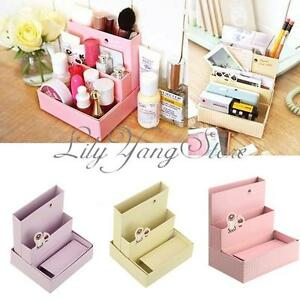 DIY Paper Board Storage Box Desk Decor Stationery Organizer Makeup Cosmetic