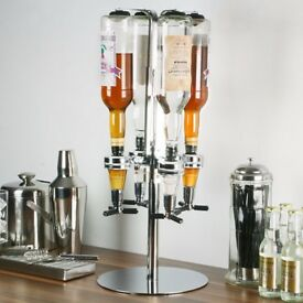 rotary 4 bottle stand holder grest for party etc