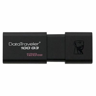 S0220567 493123 Clé USB Kingston DT100G3 128 GB Noir