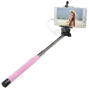Extendable Wired Remote Shutter Handheld Selfie Stick