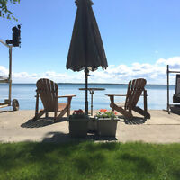 COTTAGE RENTAL -LAKEFRONT INNISFIL ONLY  55 MIN FROM GTA