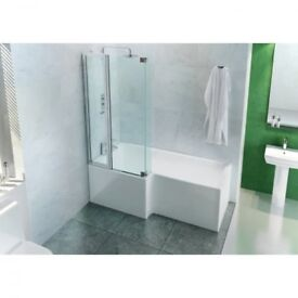 Cleargreen Eco Square Bathscreen 820 x 180 x 1450mm LH New in box RRP £300