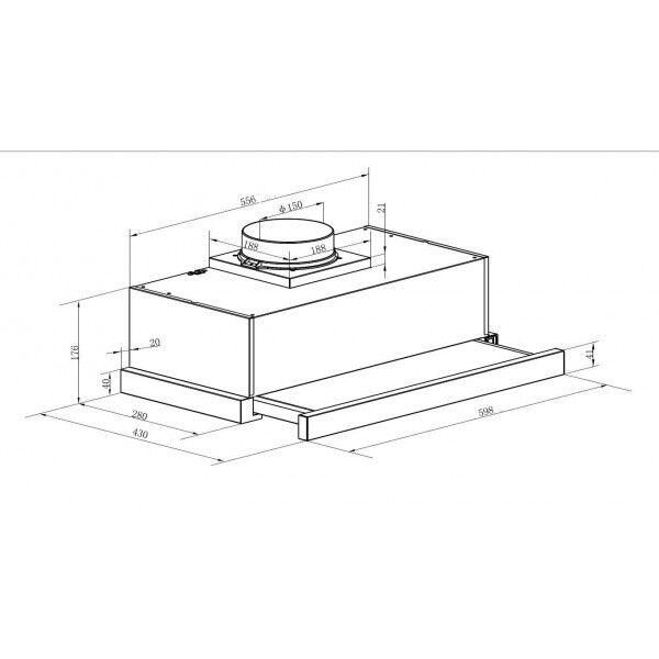 pkm ubh6002 2h 60cm einbau dunstabzugshaube ausziehbar unterbau edelstahlblende eur 69 90. Black Bedroom Furniture Sets. Home Design Ideas