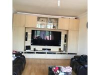 """TV Entertainment Unit with storage upto 65"""" screen"""
