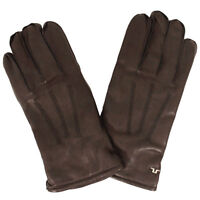 "J lindeberg Mio Brown Leather Gloves ""Large"""