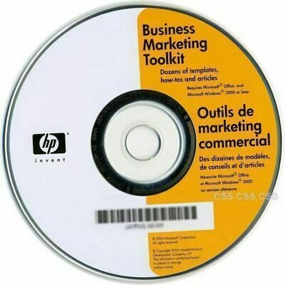 HP Business Marketing Office Toolkit Templates How-To Articles Disk Software CD