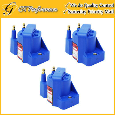 Performance Ignition Coil 3PCS for Buick Cadillac Chevrolet Isuzu Pontiac, Blue