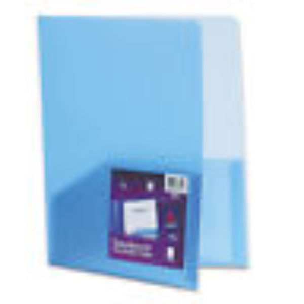 AVERY 47811 Polypropylene Two Pocket Portfolio Transulent Blue 24 folders
