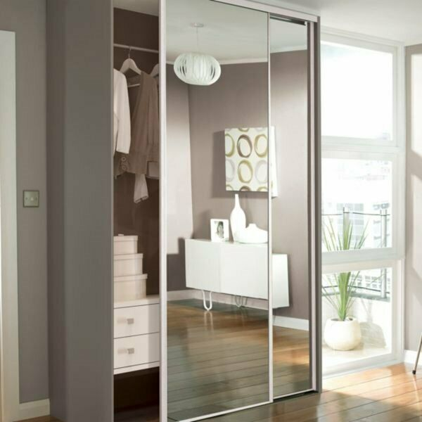 2 Sliding Mirrors Wardrobe Doors In Woodley Berkshire