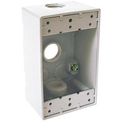White Single-gang Weatherproof Outdoor Outlet Box
