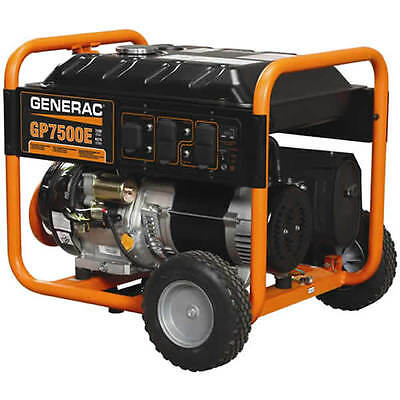 Generac 5943 - Gp7500e 7500 Watt Electric Start Portable Generator