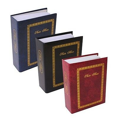 "6"" X 4"" Traditional Photo Album with 100 Pockets Black, Blue or Burgundy - 1124"