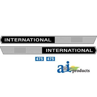 Ih Case International Tractor 475 Decal Set