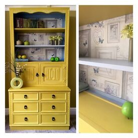 Lovely hand painted 'Jaycee' bookcase, dresser, display unit, cupboard