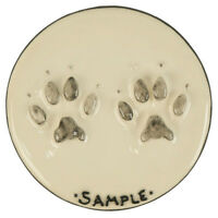 Beautiful hand painted clay paw prints