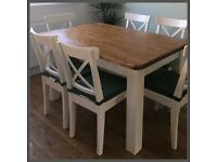 STUNNING 5FT NEW HANDMADE VERY SOLID 5FT PINE FARMHOUSE TABLE ONLY !!!!