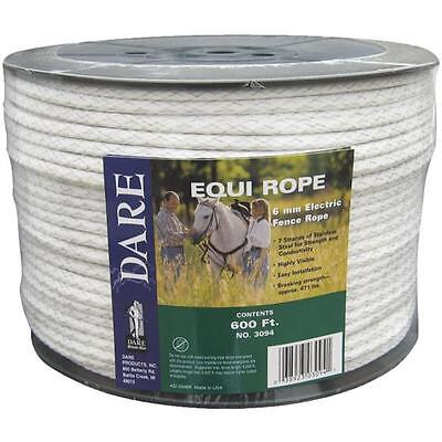 Dare 600 Equine 14 Dia 628 Electric Fence 7 Steel Strand Poly Rope 3094