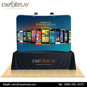 6ft Curved Table Top Tension fabric Display (Curve)