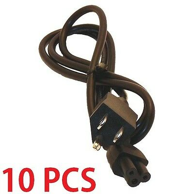 Hp Compaq Notebook Laptop (lot 10 3Prong 4ft AC Power Cord Cable for Dell Fujitsu HP/Compaq Laptop Notebook )
