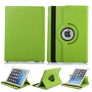 Green PU Leather 360 Rotating Case Cover for Ipad Mini 1 2 3 New