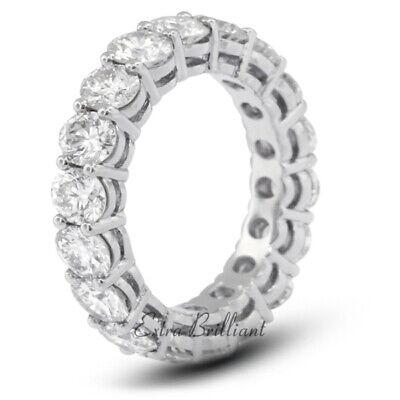 5ct Yo VS2 Corte Redondo Tierra Minado Certificado Diamantes 18k Oro Blanco