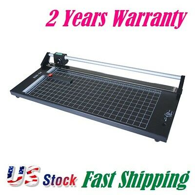 Us Stock 24 Inch Manual Precision Rotary Paper Trimmersharp Photo Paper Cutter
