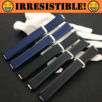 ICONIC Silicone Rubber Watch Band Strap 20mm for Omega Seamaster 300 - Omega Rubber Band