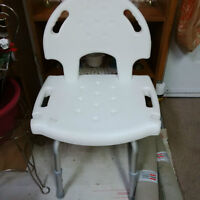 Bath/Shower Chair with Removeable Back
