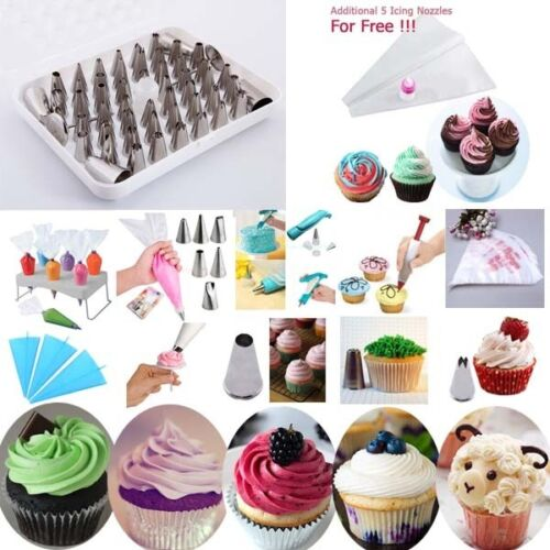 Fondant-Cupcake-Icing-Nozzles-Bags-Two-Toned-Cake-Decorating-Pens-Cookie-Tools