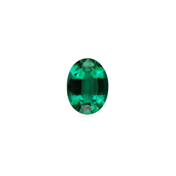 0.18-0.26 Cts of 5x3 mm AAA Oval Zambian Natural Emerald ( 1 pc ) Loose Gemstone