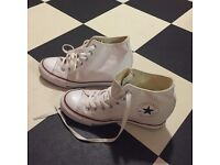 White converse wedge boot