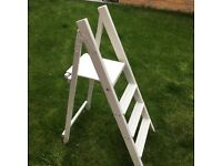 White painted wooden ladders