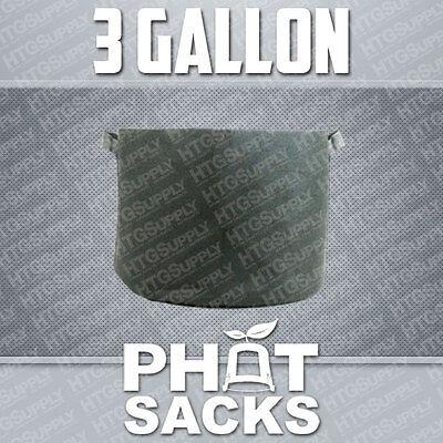 3 GALLON FABRIC GROW POTS SMART g container gro sacks breathable pots...