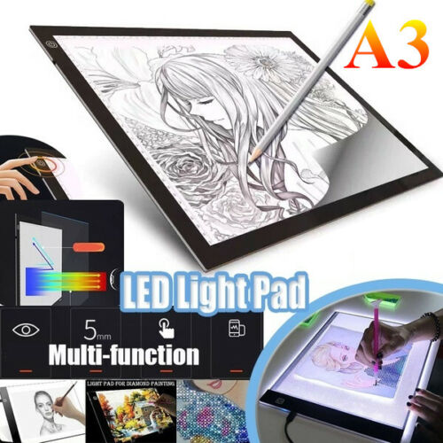 """A3 21"""" Super Large Screen Copy Drawing Tracing Board Diamond Painting Light Box"""