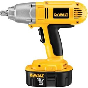 "DEWALT DW059K-2 Heavy-Duty 1/2 ""Kit 18V Cordless High Torque Clé"