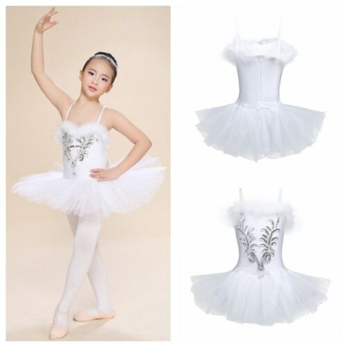 ec7abea3bd0 Kid Girl Ballet Tutu Leotard Dance Dress Fairy Swan Costume Ballerina Dance  WearGBP 3.24