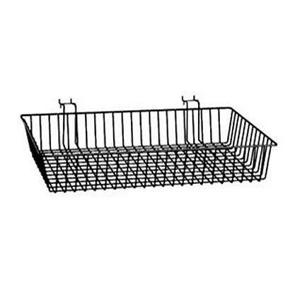 Baskets For Gridwallslatwallpegboard - Black 6 Pcs