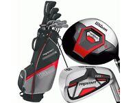 Brand new Wilson prostaff hdx golf set. 6,7,8,9,sw,pw,5w,3w,driver, bag included
