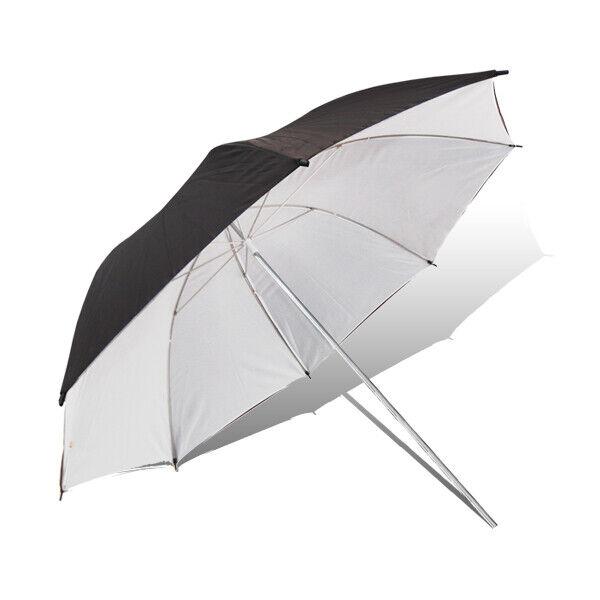"52"" Umbrella Reflector Studio Black-White Premium Quality for Photography 2PACK"
