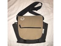 Bugaboo nappy changing bag -- sand and black