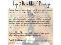 Therapeutic, Reflexology, Deep tissue, Swedish, Sports, Relaxing massage + therapeutic exercises