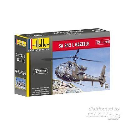 Heller SA 342 Gazelle Hubschrauber in 1:50 1580486 Glow2B 80486  X