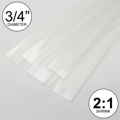 4 Feet 34 Clear Heat Shrink Tubing 21 Ratio Wrap Inchfootftto 0.75 20mm
