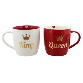 King and queen mugs