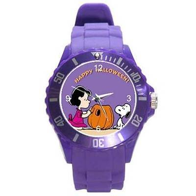 HAPPY HALLOWEEN SNOOPY & LUCY PLASTIC SPORTS WATCH 8 COLORS to CHOOSE FROM NEW (Watch Halloween 8)