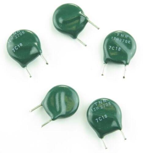 10pcs Nippon TNR12H270K 27V Metal Oxide Varistor Volt Dependent MOV 53V Max