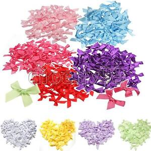 50-100PCS-7mm-Satin-Ribbon-Bow-Mini-Gift-Scrapbooking-For-DIY-Decoration-5-Color