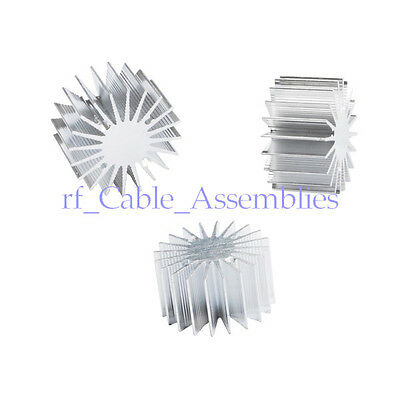 10pcs 13w Watt Led Aluminum Heat Sink Round Radiator 36mm Od 20mm Height